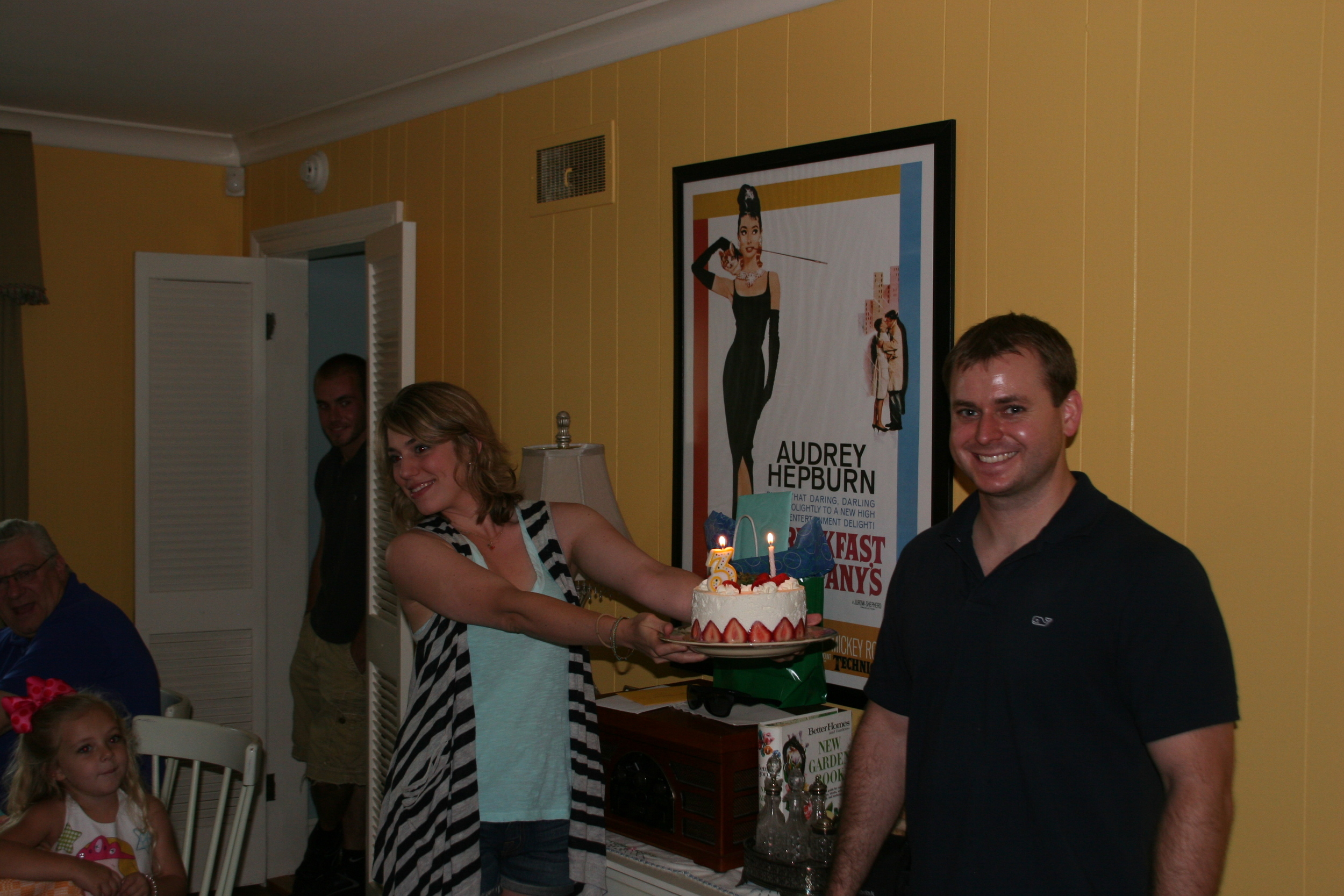 My dad, Eliza, Anthony, Lauren and Jonathan celebrating his birthday in our first home, July 2010.