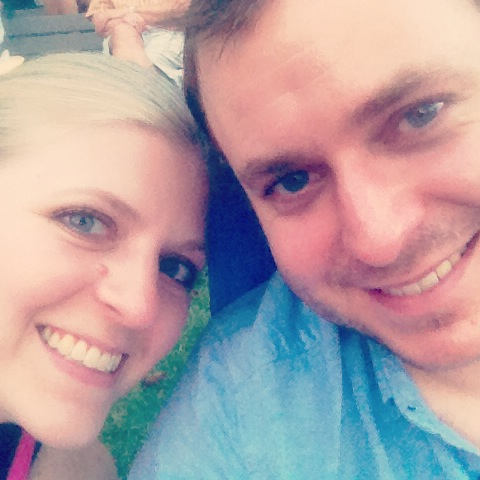 Me and Jonathan celebrating at the Overton Park Shell, July 2013.