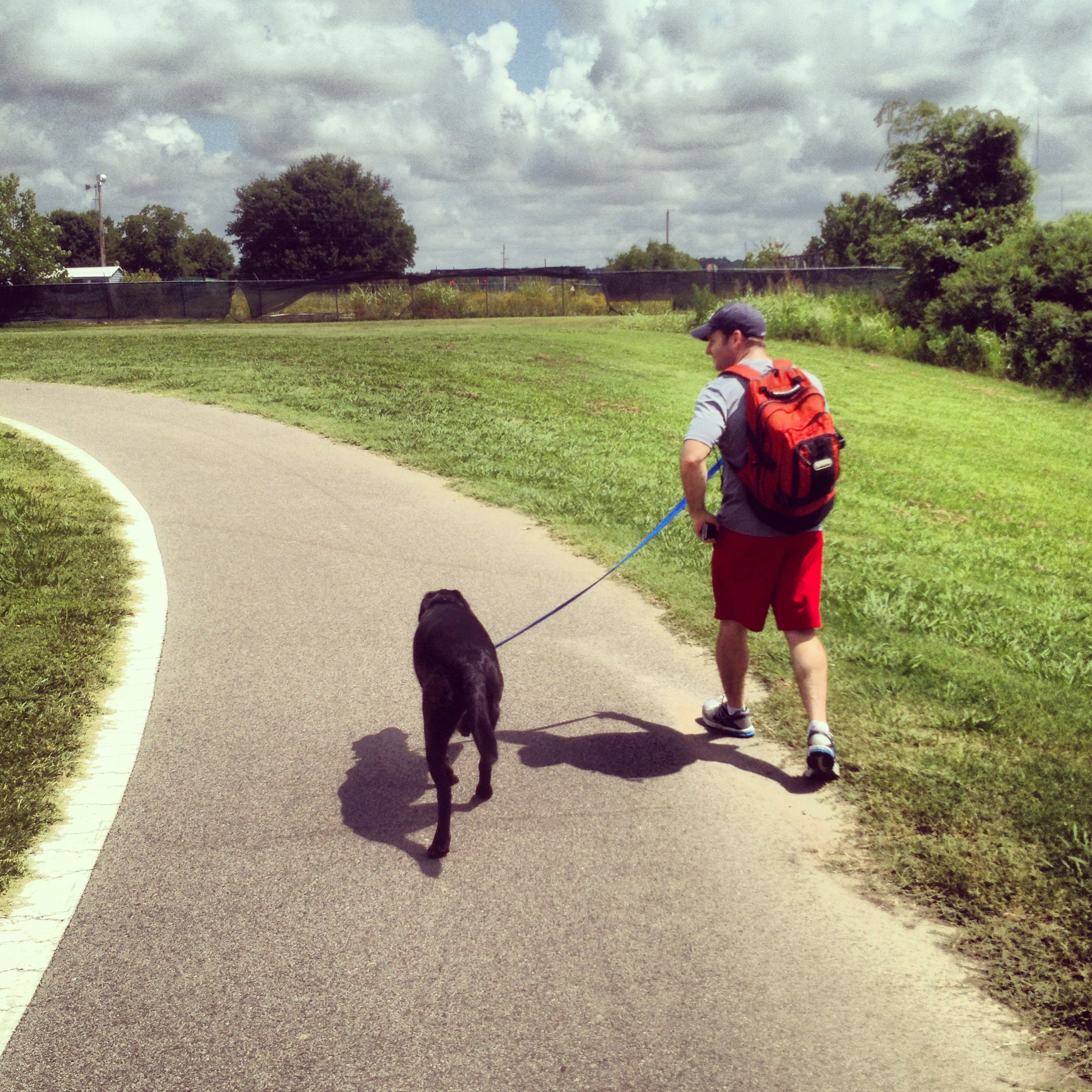 Jonathan and Porter at Shelby Farms, July 2013.