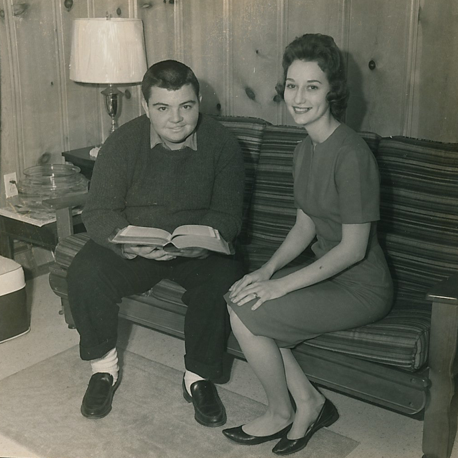 Wood paneling. This was taken around 1960, so the 1950s influences were still very noticeable. Love it though!