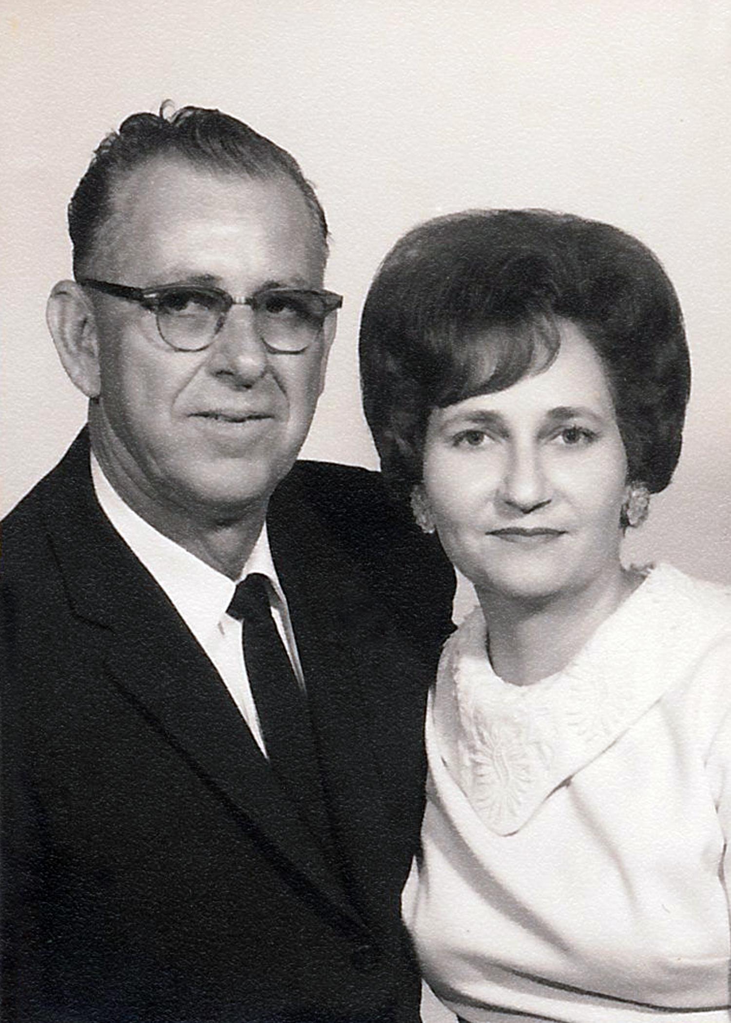 Clovis and Arletta Geno , Denise's parents.