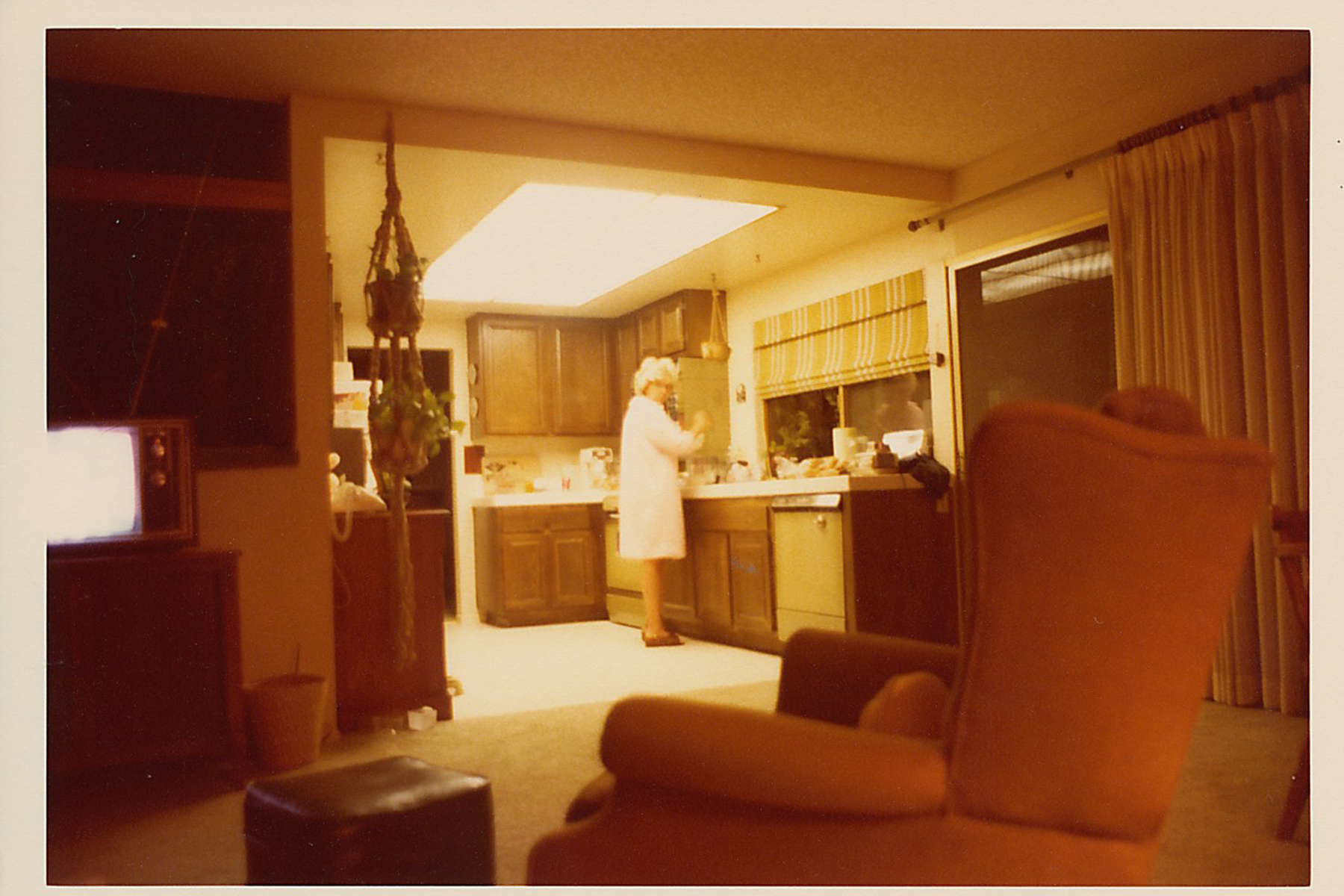 This is how I remember her in her kitchen.