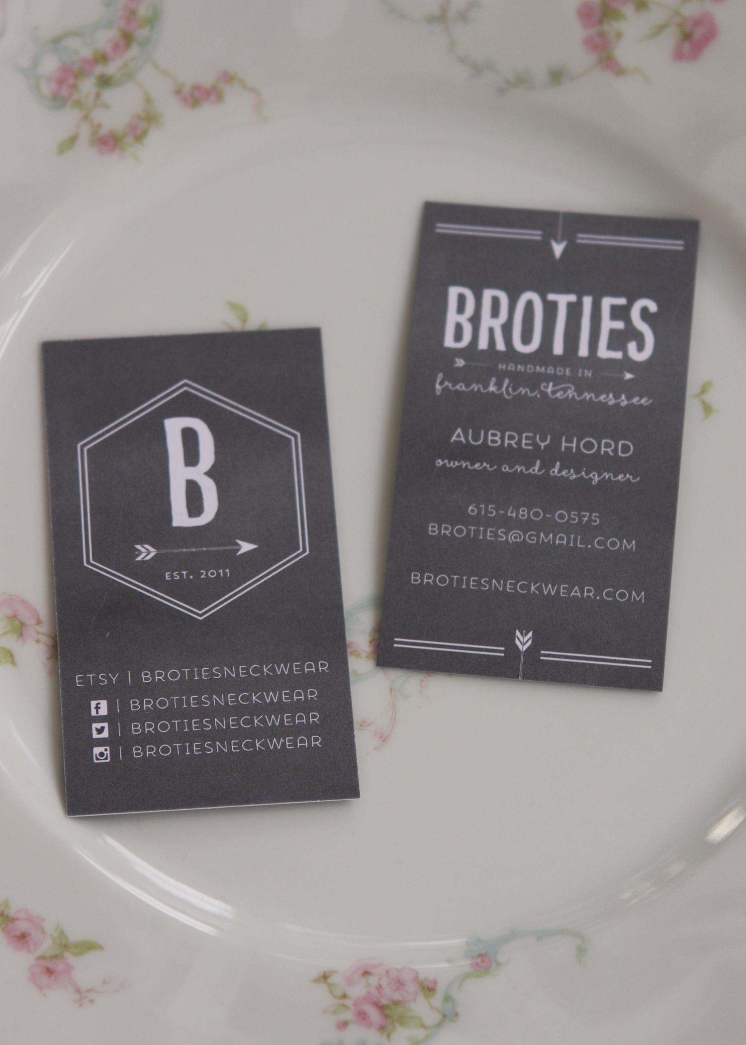 BroTies business cards.