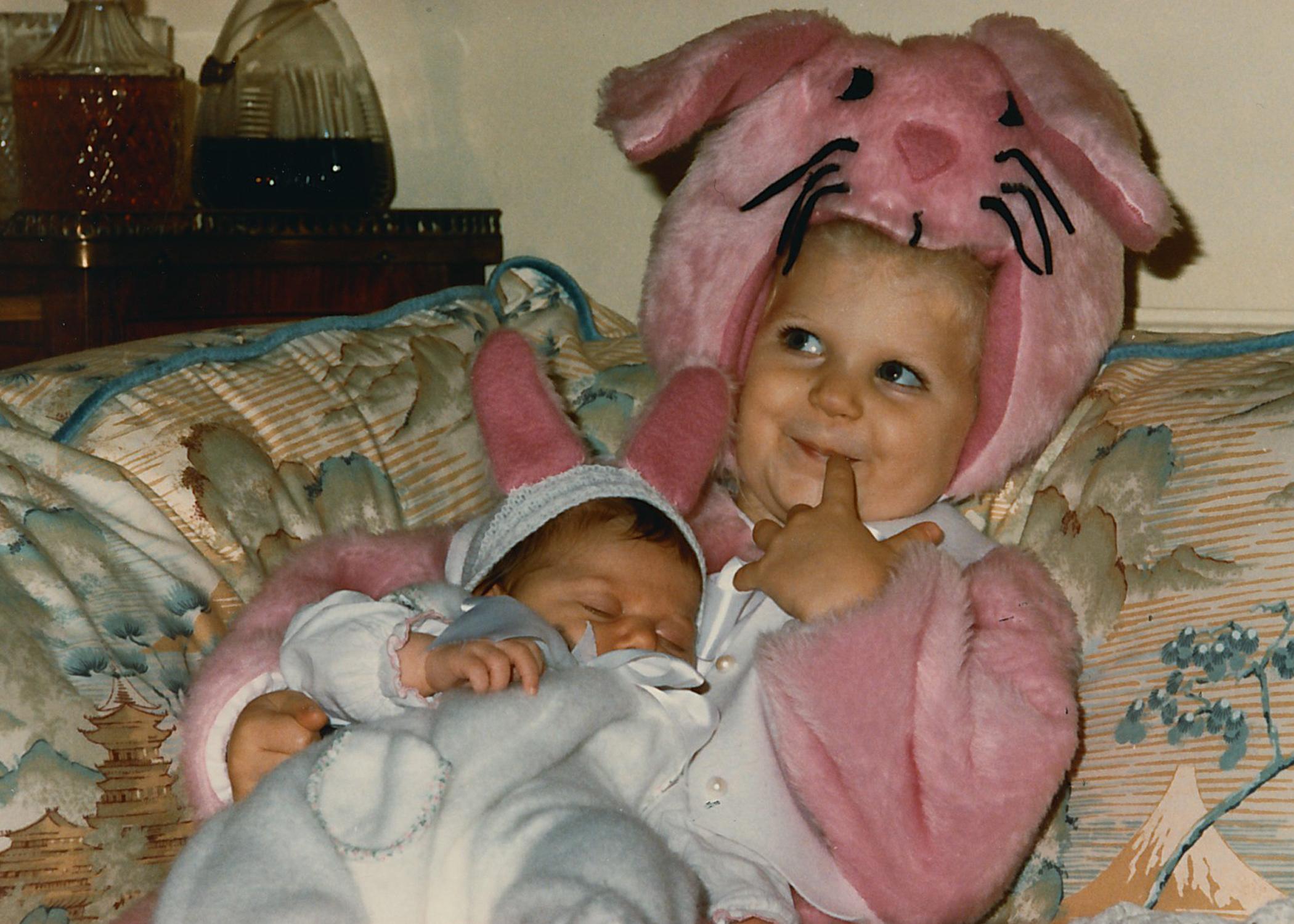 Me and Lauren on October 31, 1986.