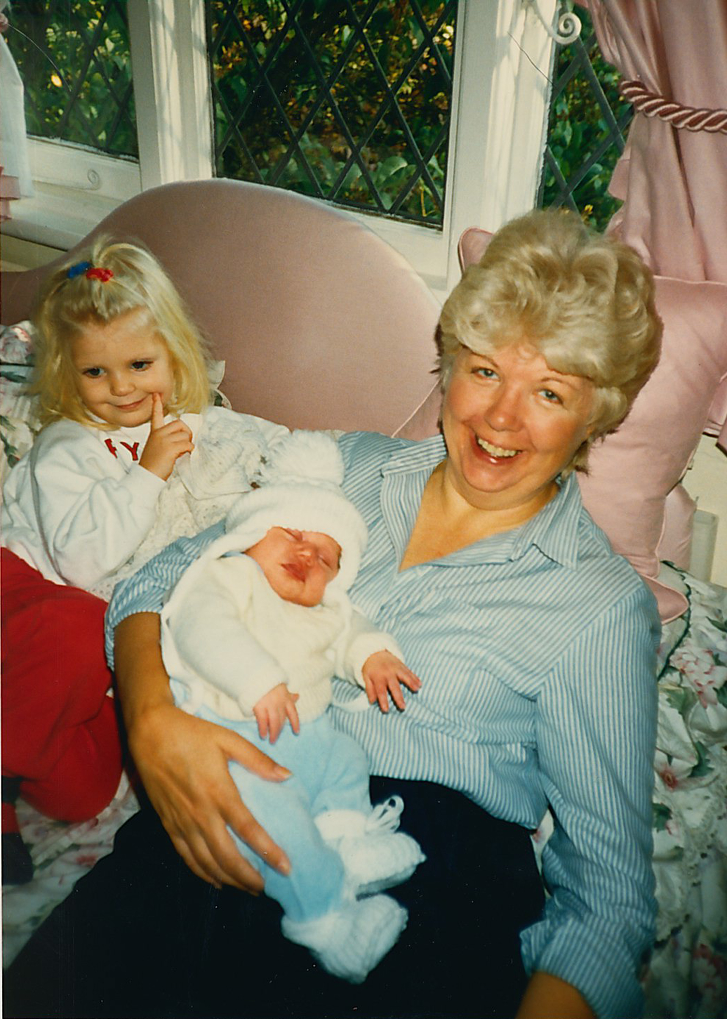 My grandma Joan and her granddaughters.
