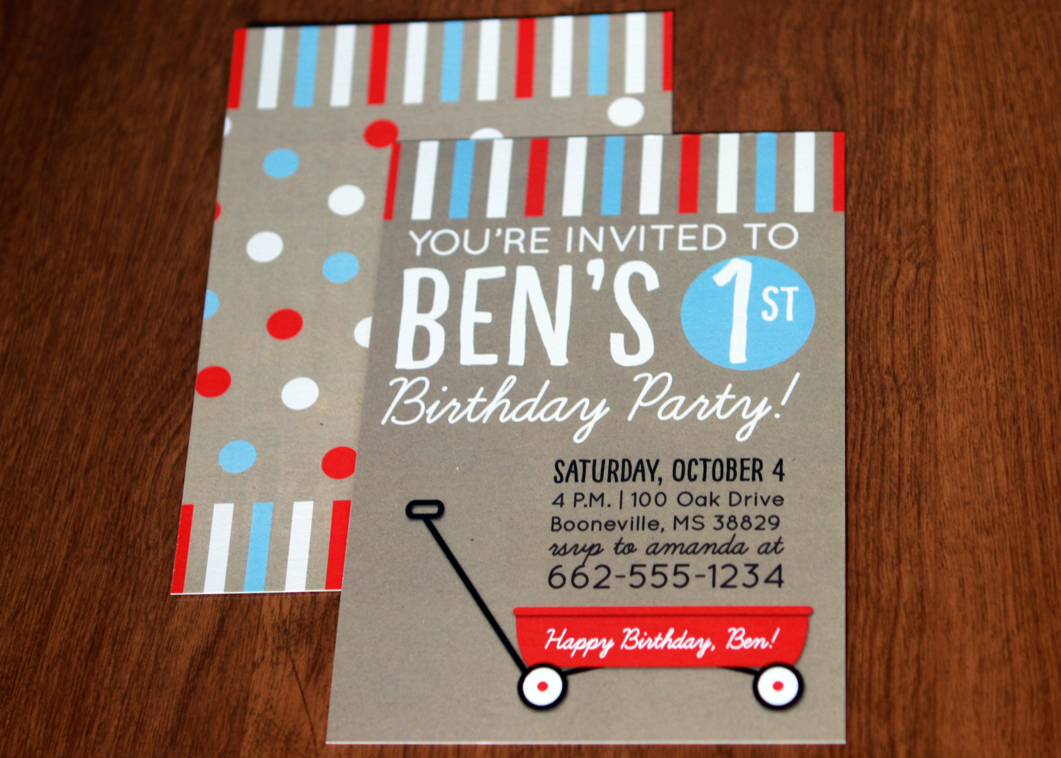 Ben Party Invitation
