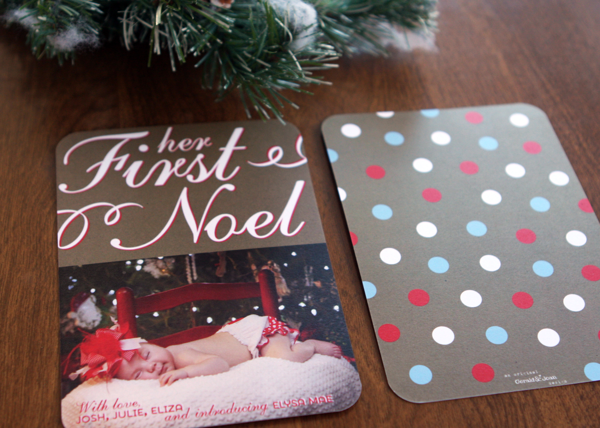 Belle Christmas Card