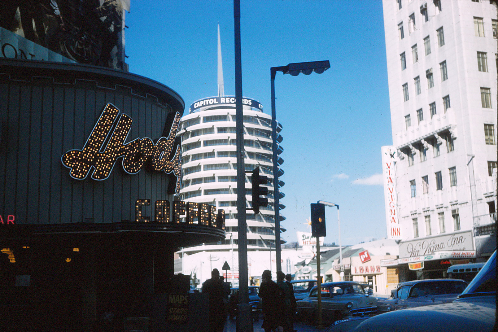 Capitol Records in Hollywood, California, around 1960.