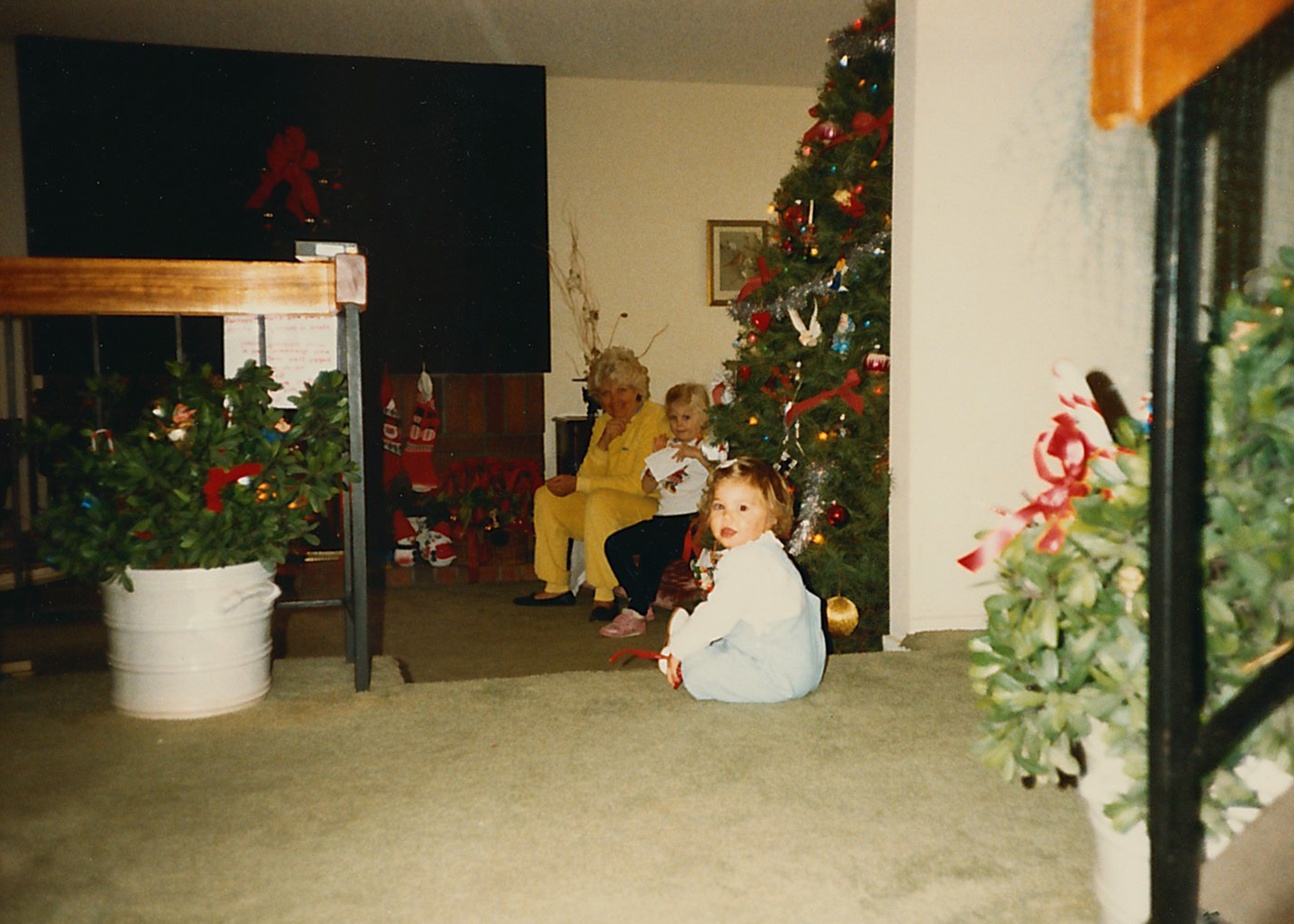 On Christmas morning in California. It was one of the best Christmases ever.