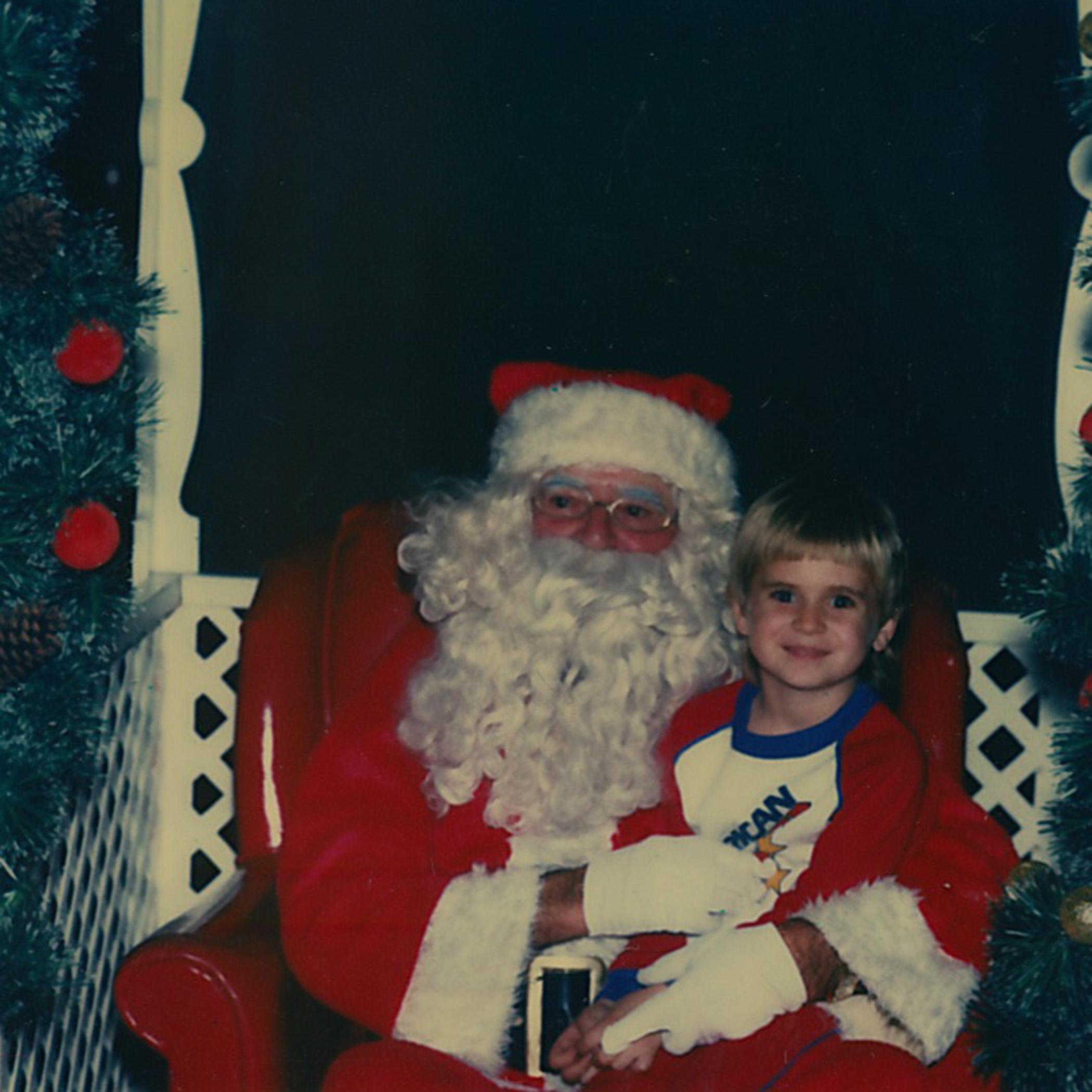 Jonathan with Santa