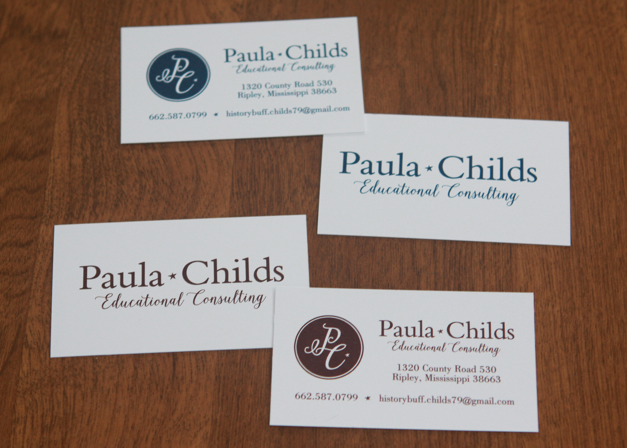 Paula Childs Business Cards