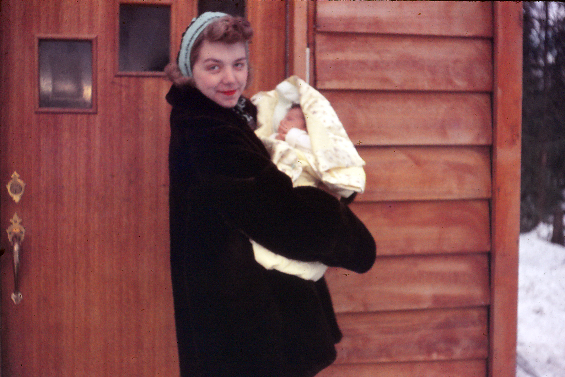 My grandma Joan and my mother Julie shortly after her birth in Anchorage, Alaska.