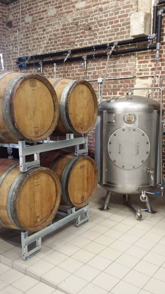 Casks filled in place with the addition of...