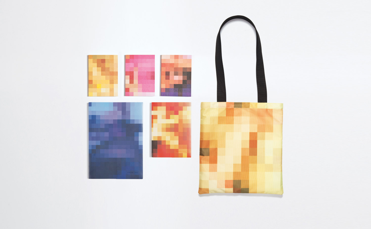 Pixelated Life  A sketchbook collection and tote bag reframing our online experience.
