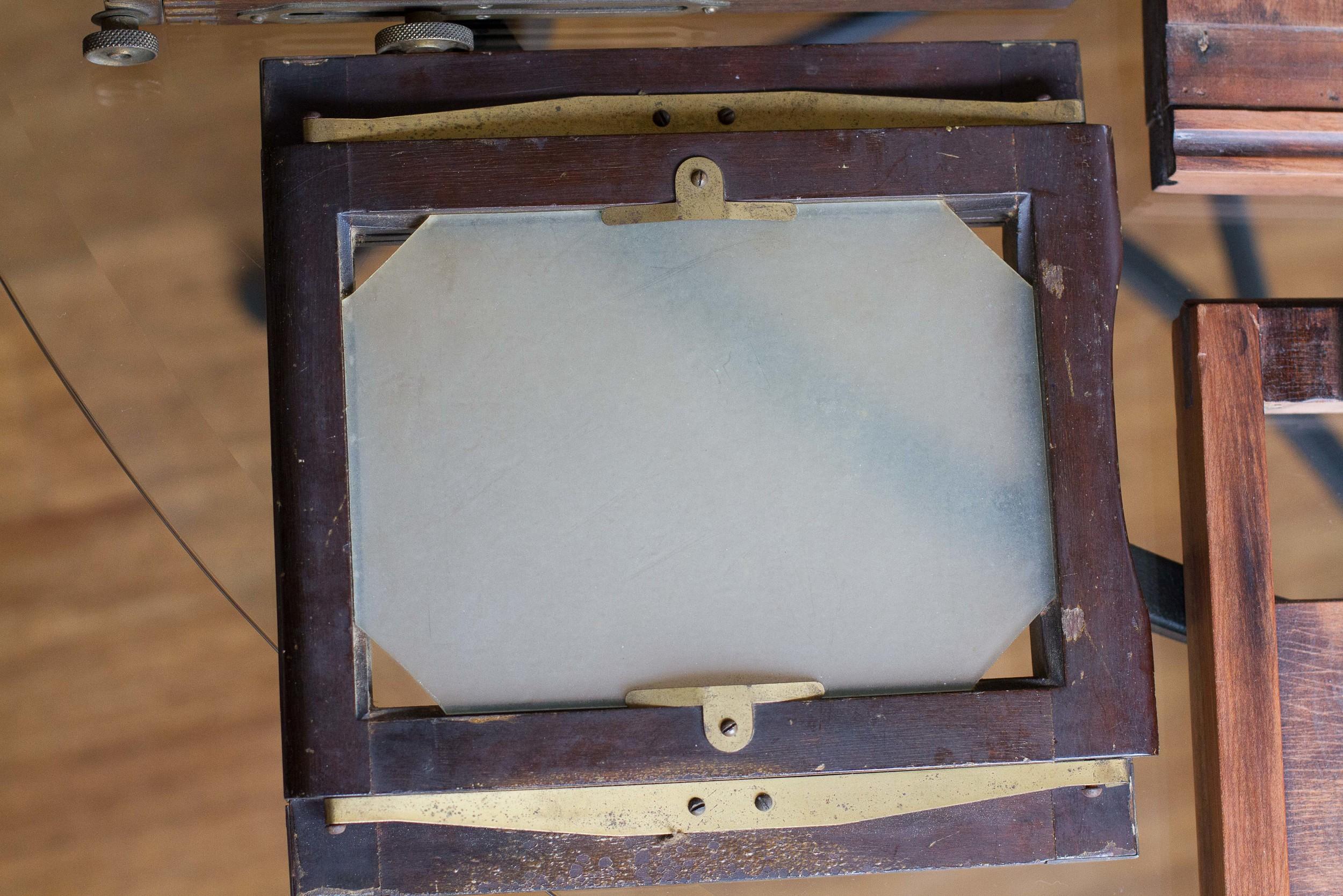 Old ground glass