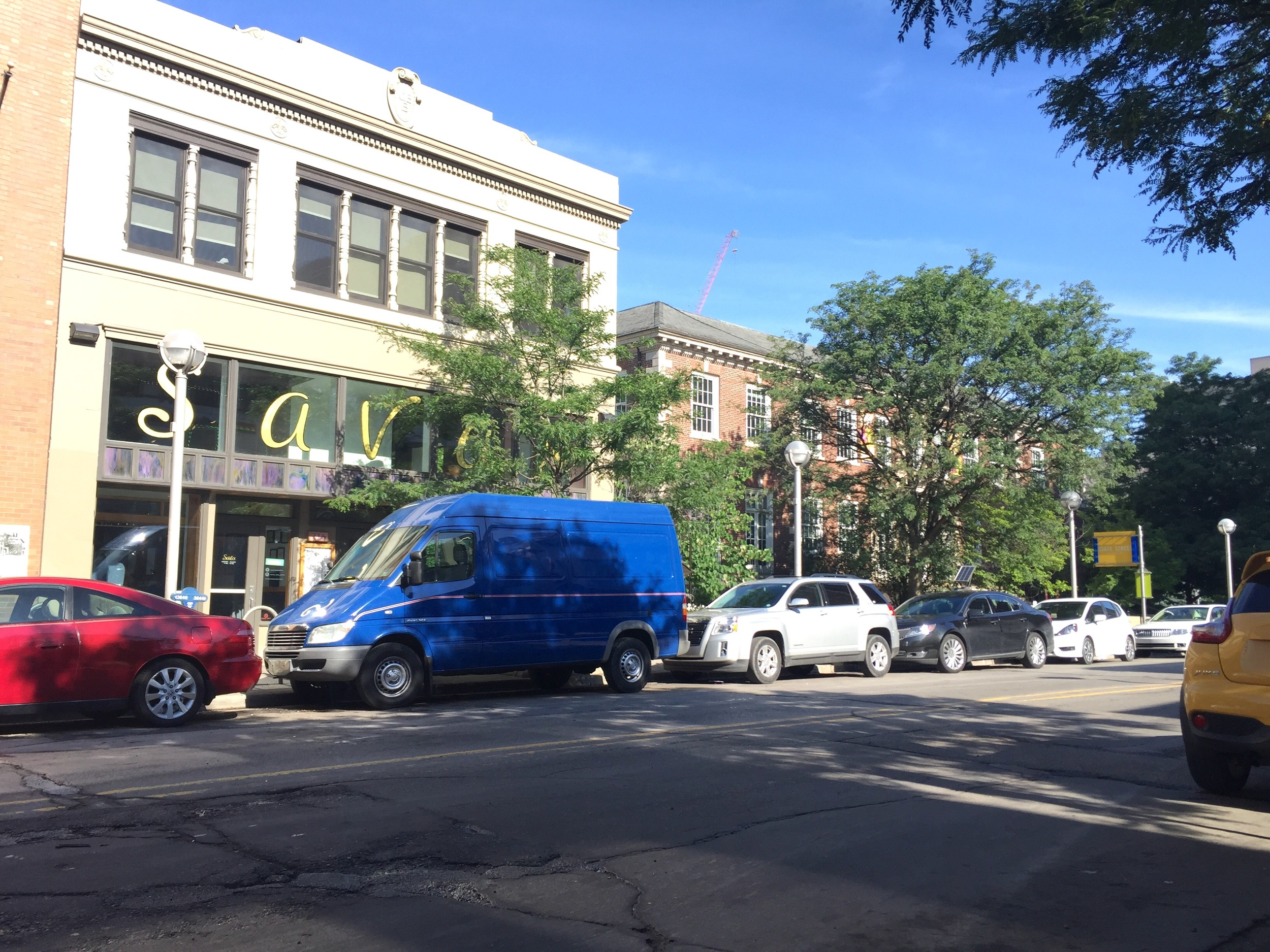 Parallel parked on the mean streets of Ann Arbor, Michigan