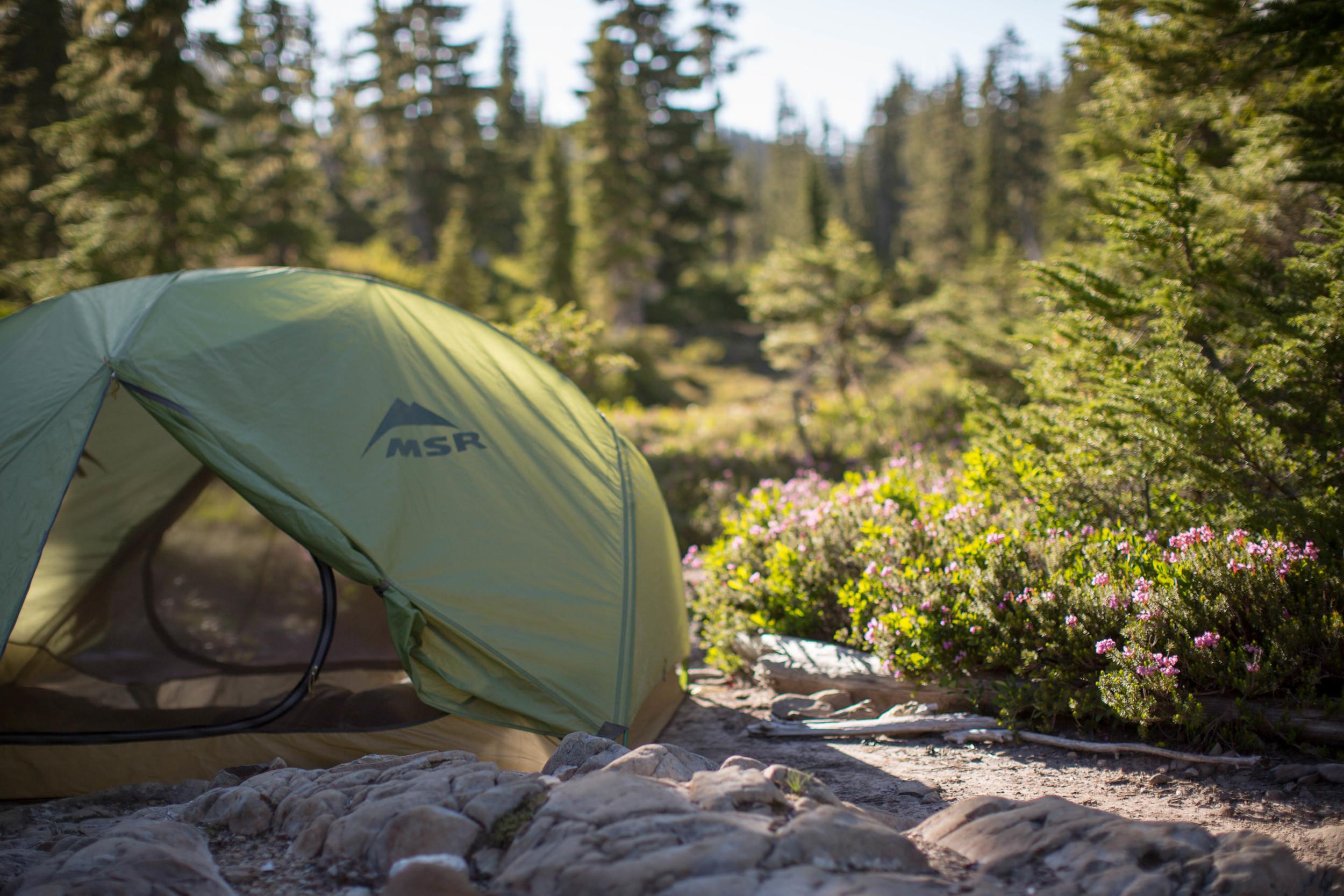 """Last night's camp near the """"potholes"""""""