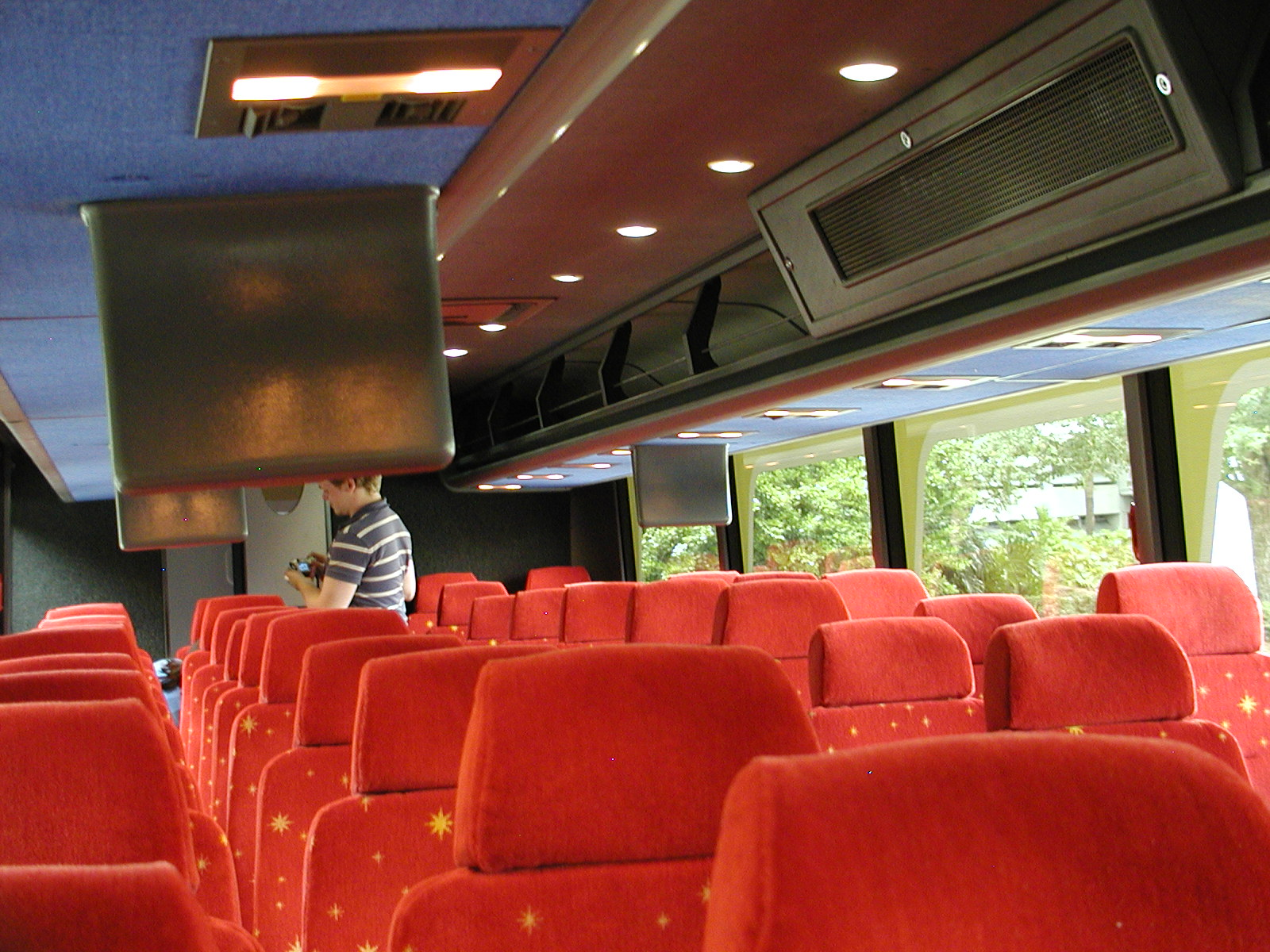 The DME buses are clean and comfortable. They also provide a video to watch on the way.