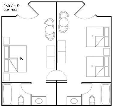 All Star King Bed Room Floorplan