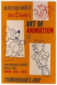 Vintage Disneyland sign for the Art of Animation exhibit