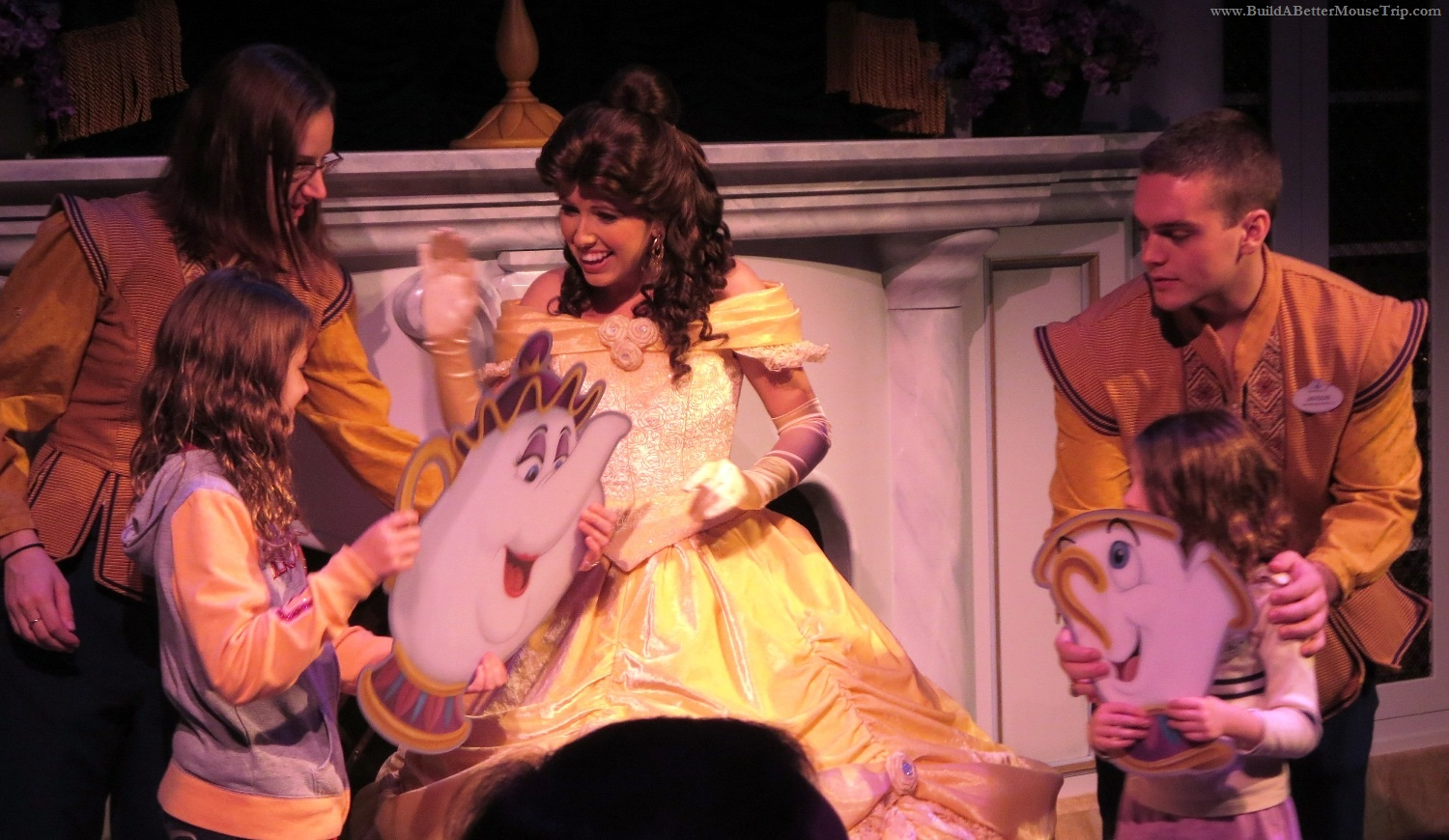 Enchanted Tales with Belle  in  Fantasyland  at the  Magic Kingdom  -  Walt Disney World Resort.