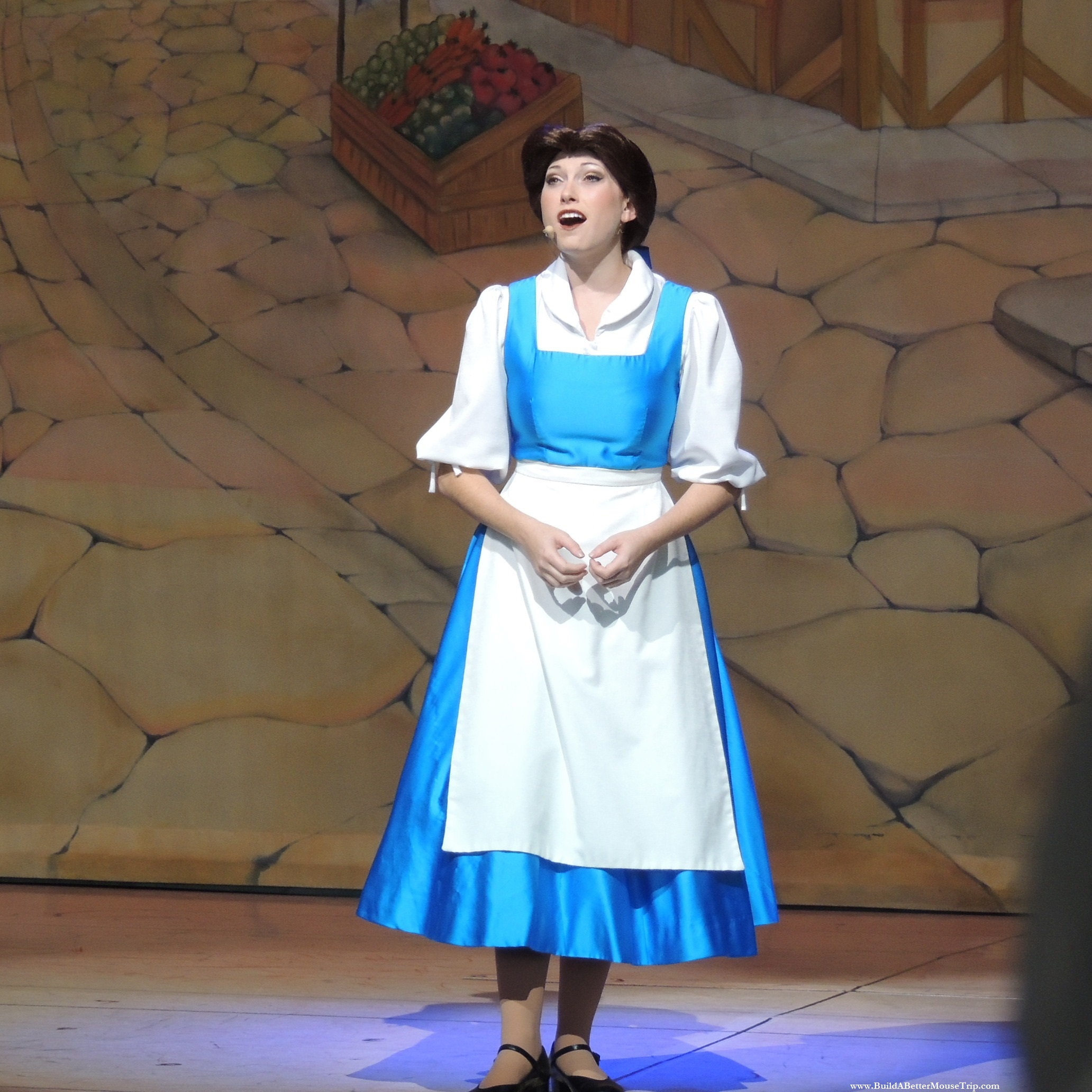 Belle in  Beauty and the Beast   Live on Stage  in  Disney's Hollywood Studios  at  Walt Disney World Resort.