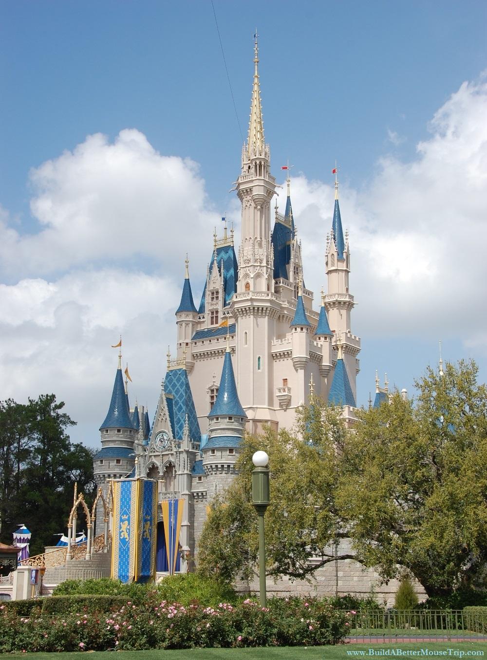 Cinderella's Castle in the Magic Kingdom at Disney World.