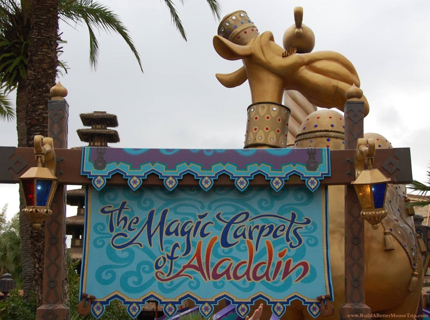 The Magic Carpets of Aladdin ride in Adventureland at the Magic Kingdom / Walt Disney World Resort.