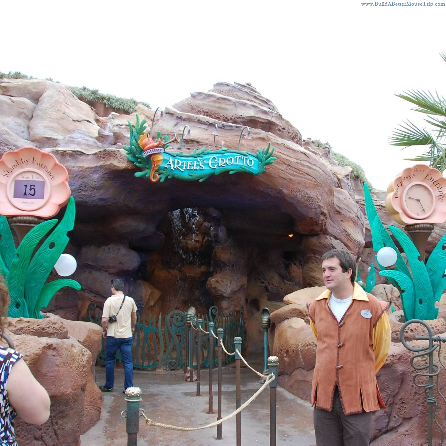You can have your photo taken with the Little Mermaid at Ariel's Grotto in Fantasyland in the Magic Kingdom at Disney World. .