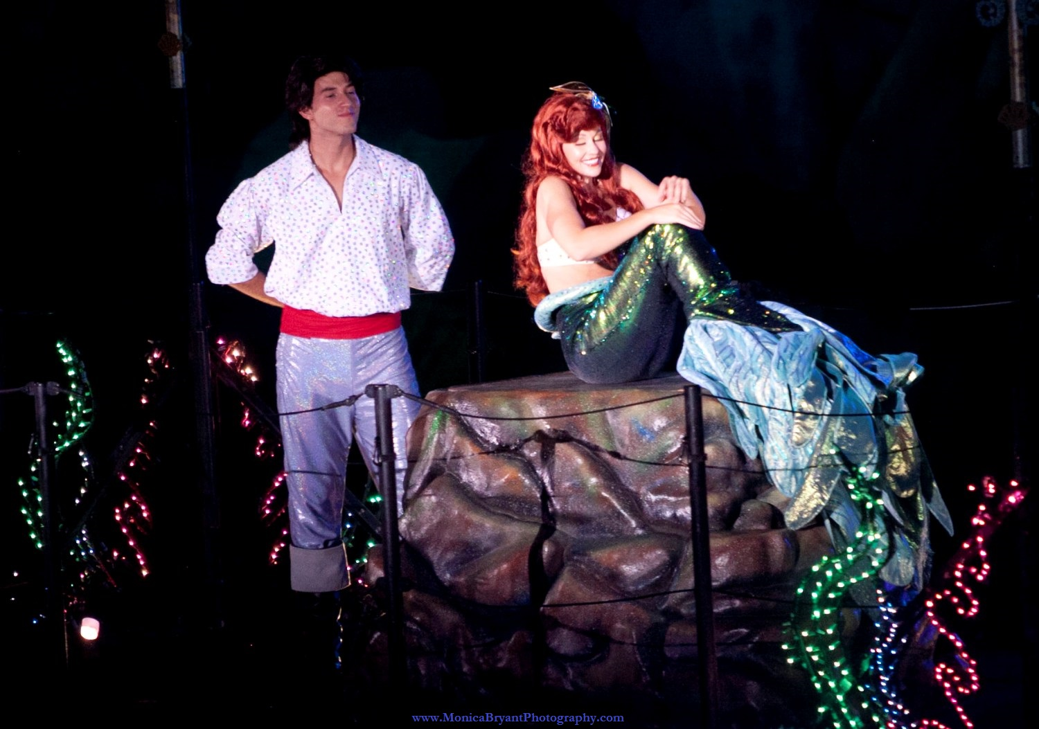 The Little Mermaid and Prince Eric in Fantasmic! at Disney's Hollywood Studios