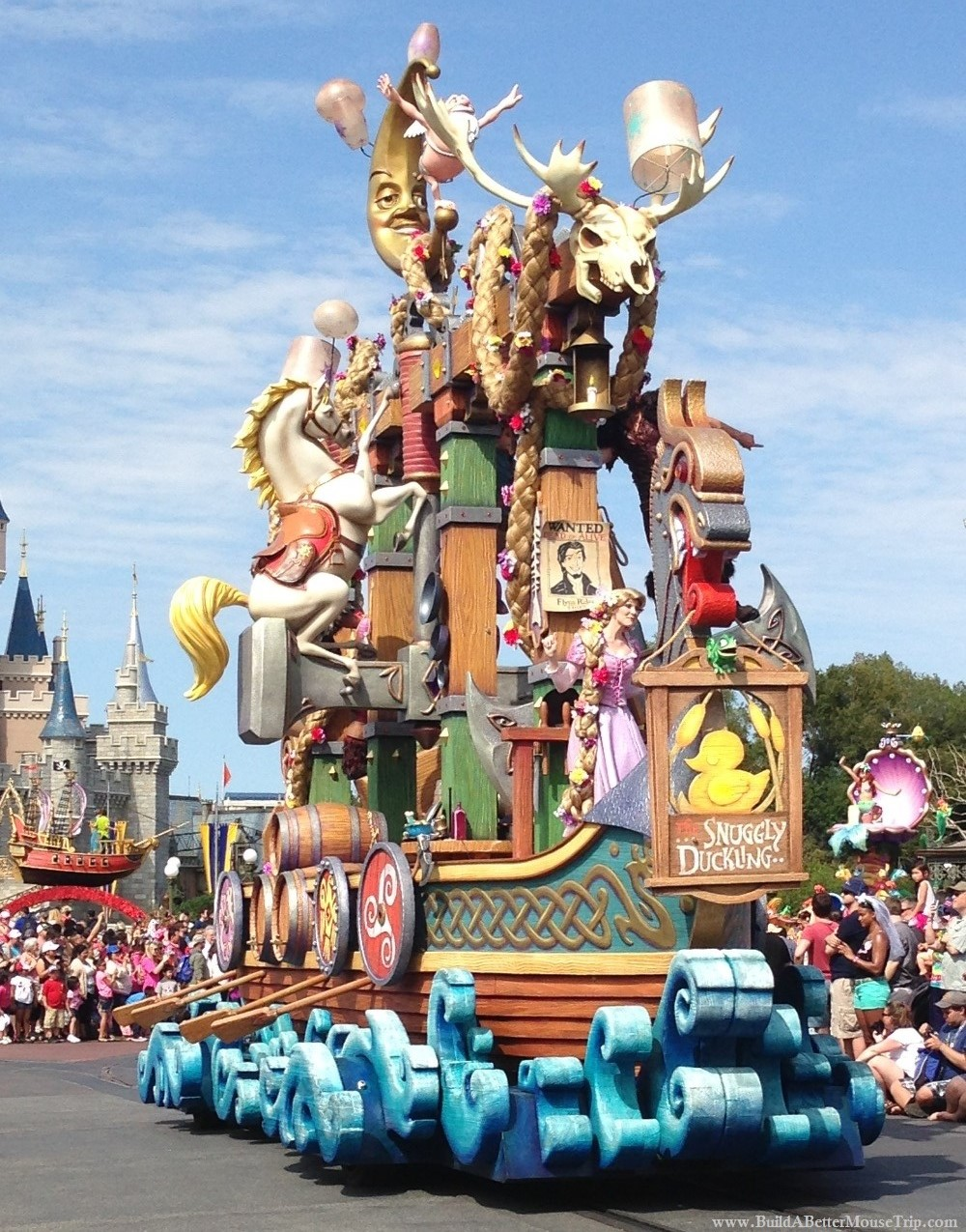 Tangled Float in the Festival of Fantasy Parade in the Magic Kingdom.