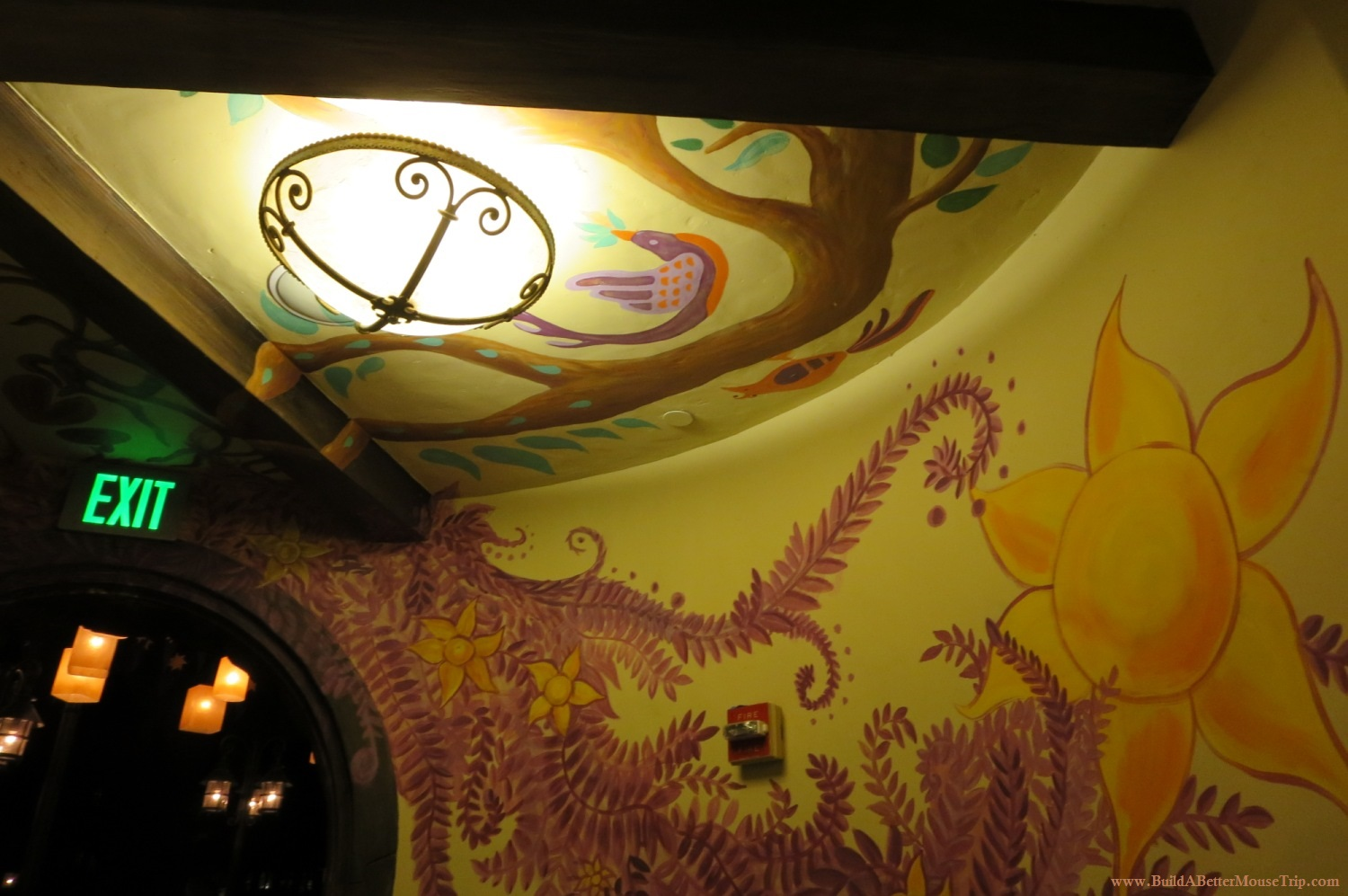 Tangled bathroom in the Magic Kingdom looks like it was decorated by Rapunzel.