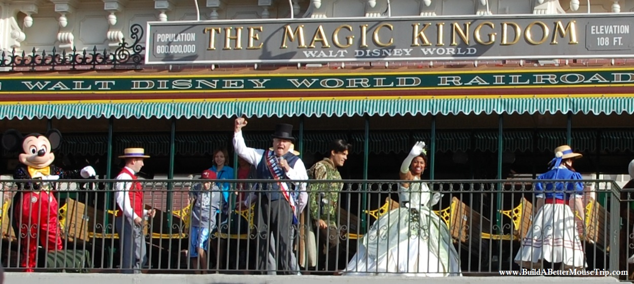 Disney Tips & Secrets - Where to Meet Tiana, from Disney's The Princess & the Frog, at Disney World. See: http://www.buildabettermousetrip.com/princess-tiana-at-disney-world Photo: Magic Kingdom opening show - Walt Disney World Resort / Florida.