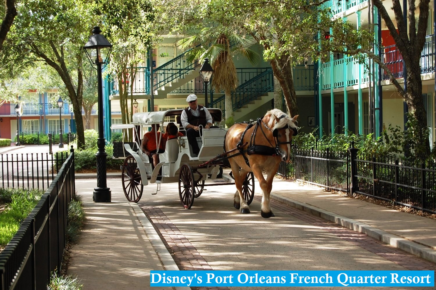 Disney's Port Orleans French Quarter Resort at Disney World in Florida.