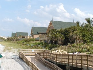 Beach view of Disney's Vero Beach Resort