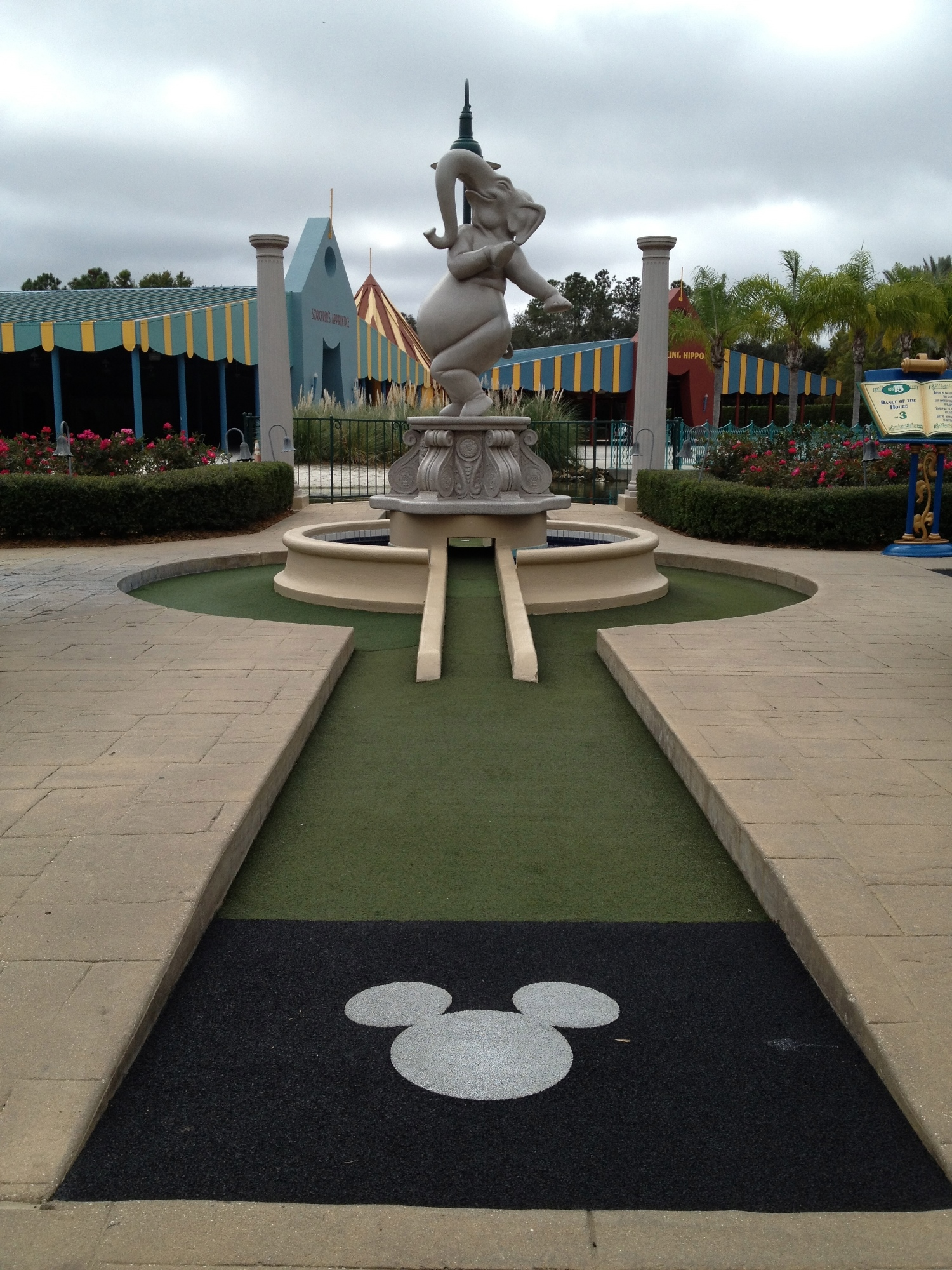 One of the holes at Fantasia GarDens.
