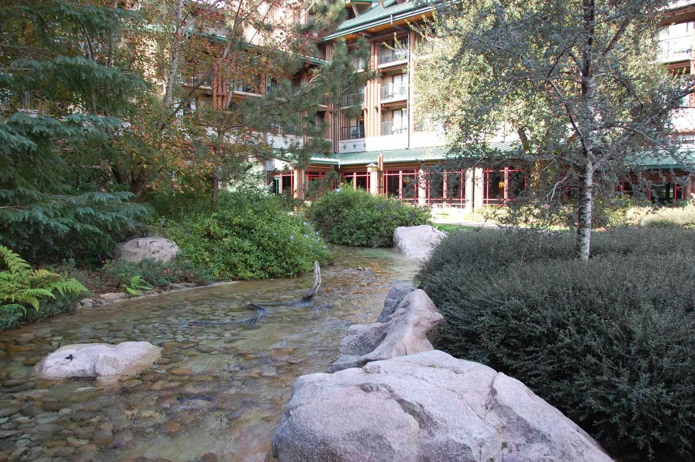 Silver Creek in the courtyard at Disney's Wilderness Lodge Resort / Disney World.