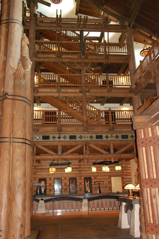 Grand Staircase at Disney's Wilderness Lodge Resort / Disney World - Florida.