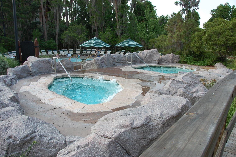 Disney's Wilderness Lodge Hot Tubs - Disney World.