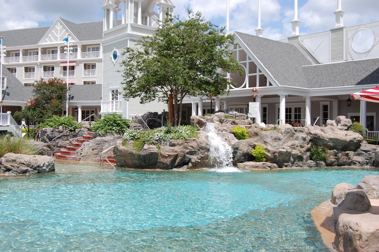 Storm Along Bay Feature Pool at Disney's Yacht Club Resort