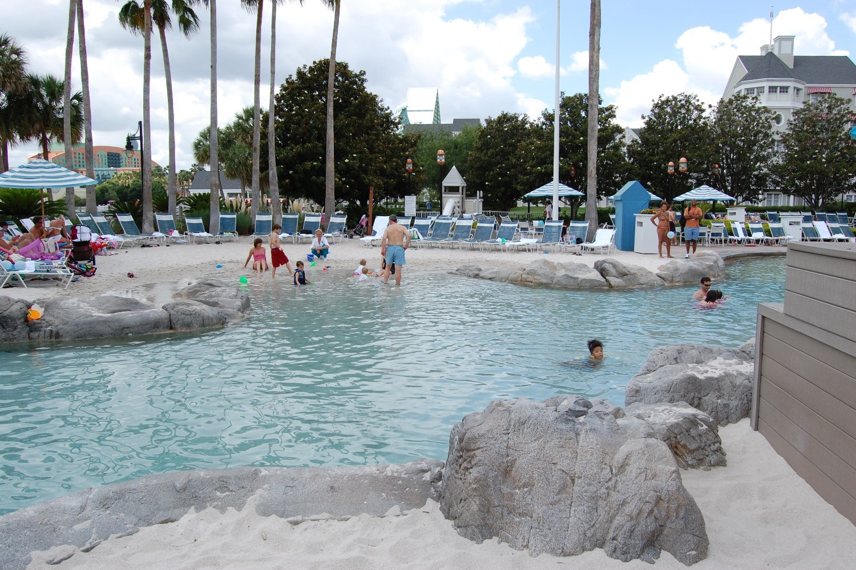 Disney's Yacht Club Storm Along Bay Feature Pool Sandy Beach