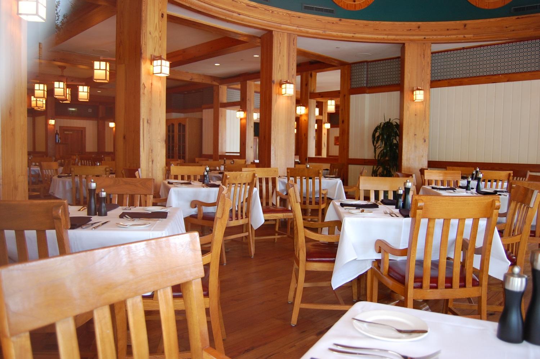 Inside the Yachtsman Steakhouse at Disney's Yacht & Beach Club Resorts - Disney World.