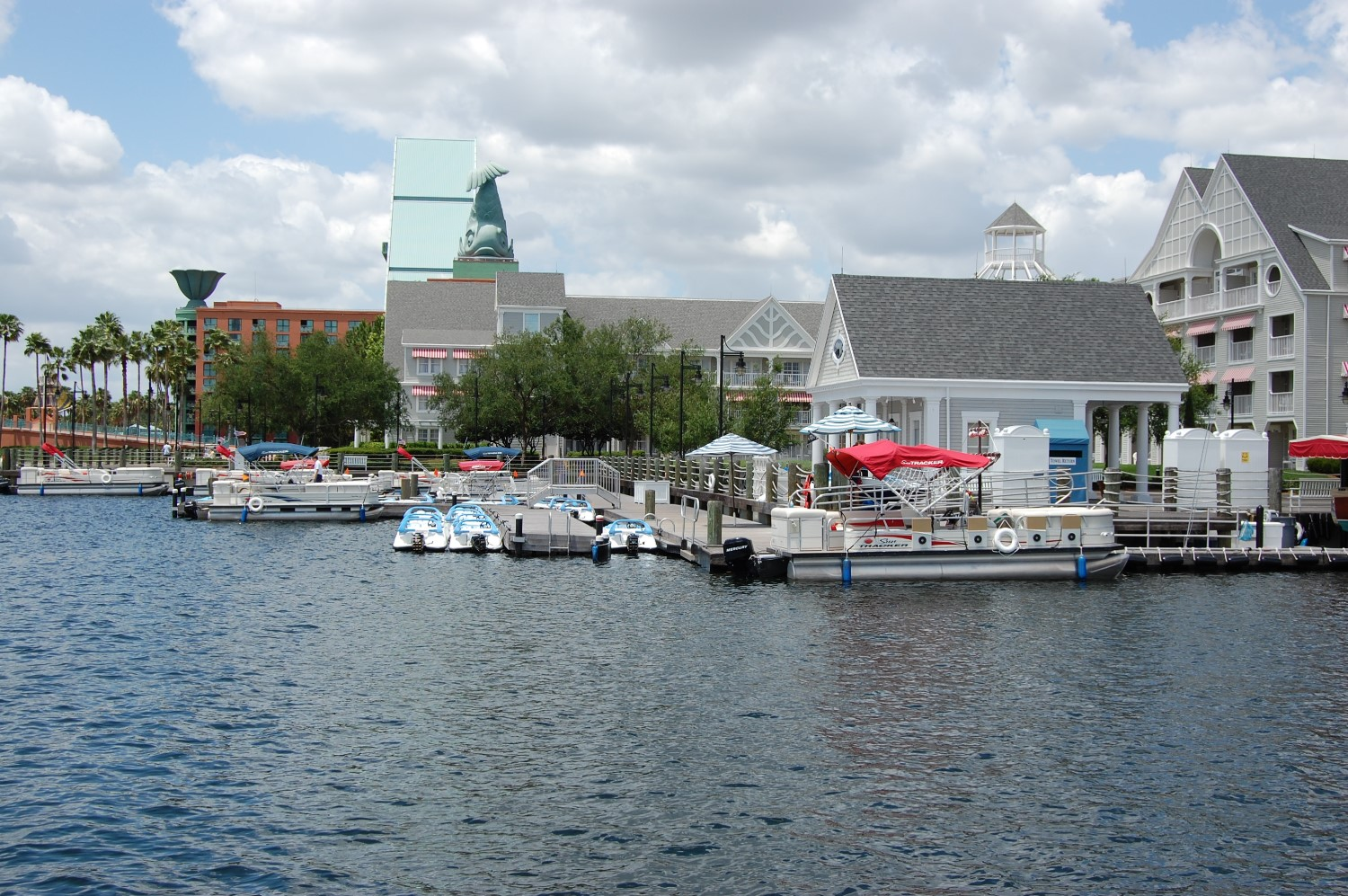 Marina at Disney's Yacht Club Resort in the Epcot area of Disney World.   Photo by www.buildabettermousetrip.com