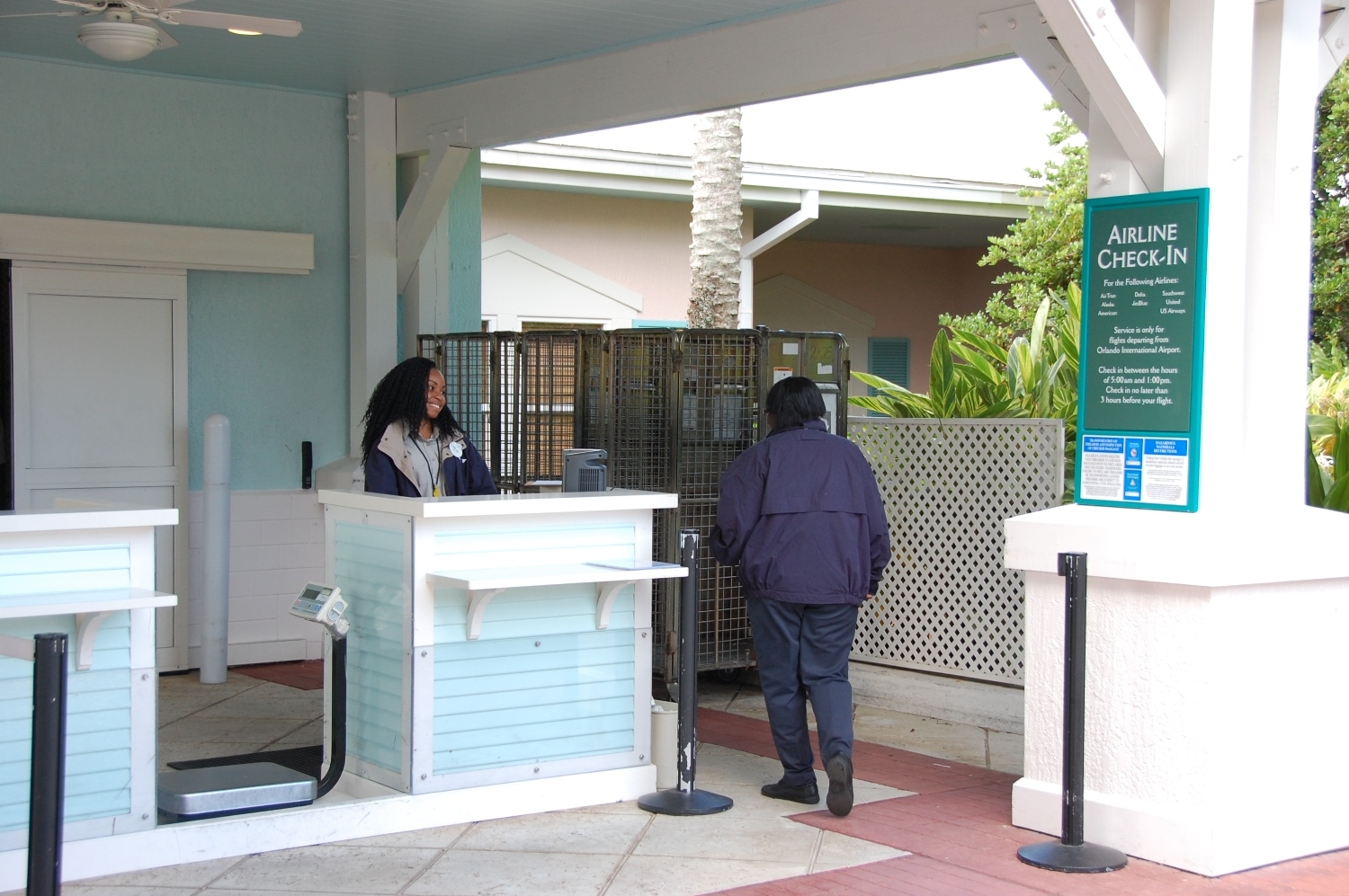 Old Key West - Disney's Magical Express Airline Checkin desk