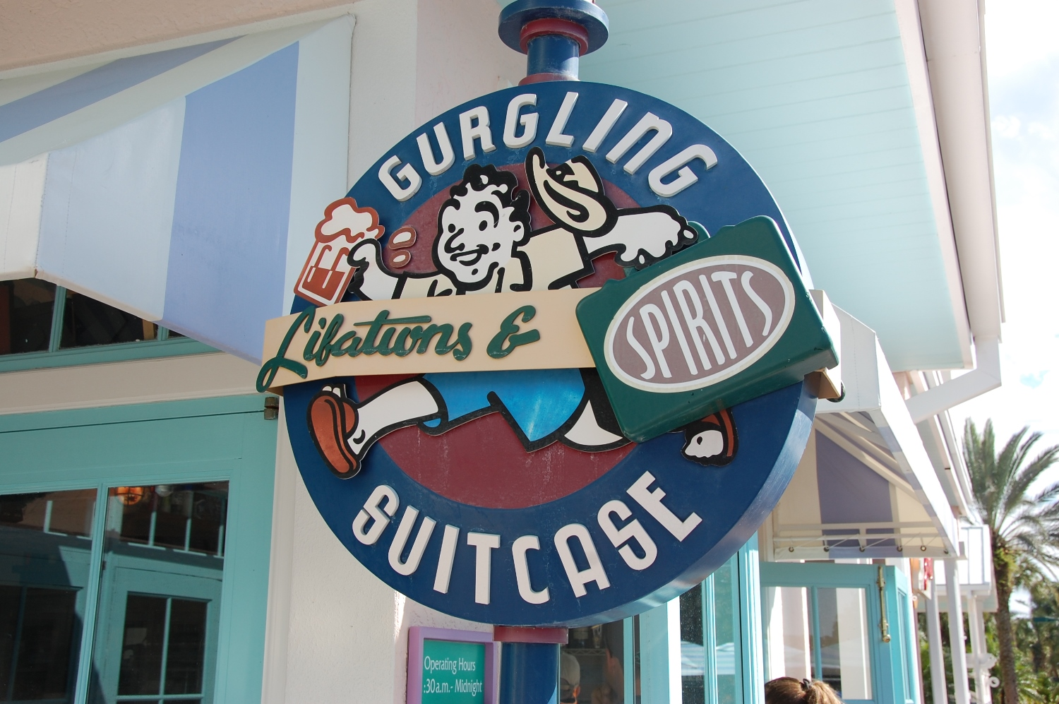 Gurgling Suitcase at Disney's Old Key West
