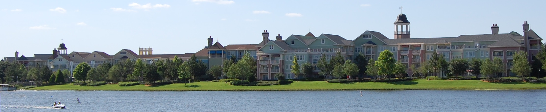 Disney's Saratoga Springs as seen from Downtown Disney
