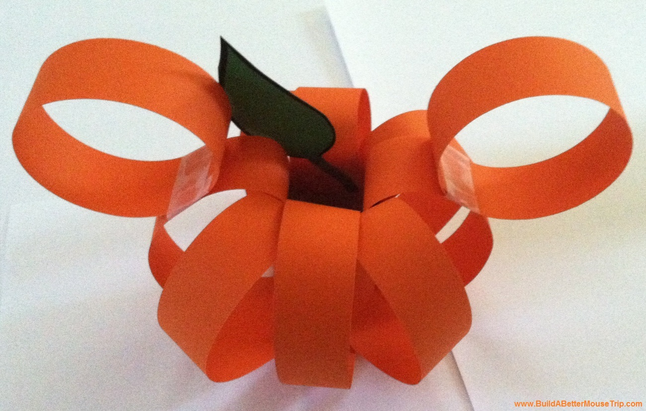 Paper Pumpkin with Mickey Mouse Ears - Easy Halloween Craft for Children