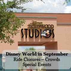 Disney World September - Crowd Information, Ride Closure & Refurbishments and Special Events Information in one easy list. Also includes information about Mickey's Not So Scary Halloween Party.