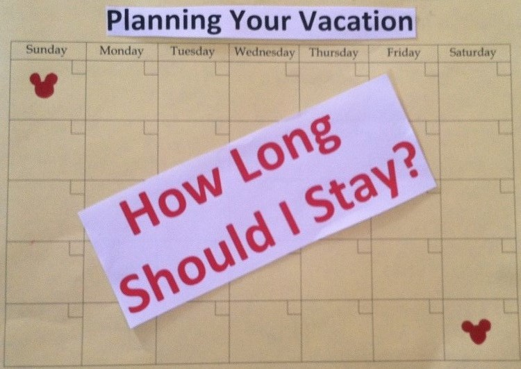 Great information to help you decide how long you need for your Disney World vacation.