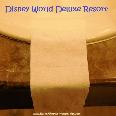 Toilet paper at Disney World deluxe hotels.